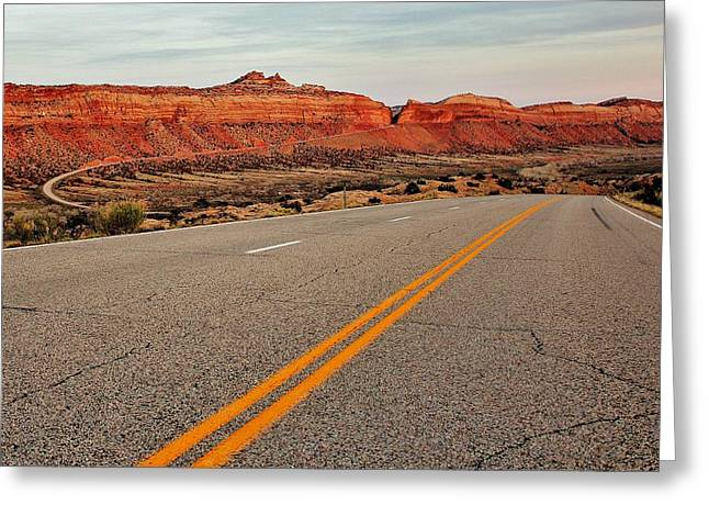 Scenic Drive Greeting Cards - Utah Highway Greeting Card by Benjamin Yeager
