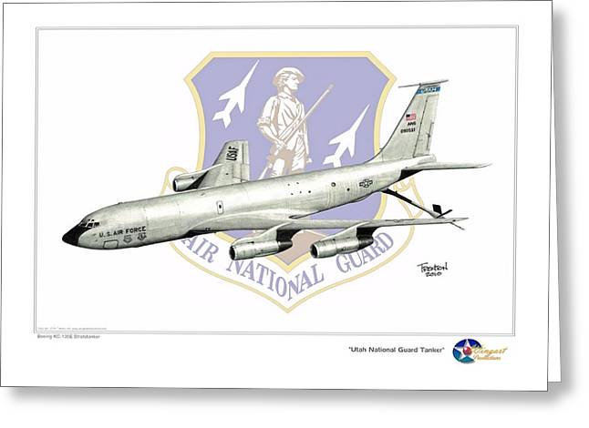 National Guard Mixed Media Greeting Cards - Utah National Guard Tanker Greeting Card by Trenton Hill