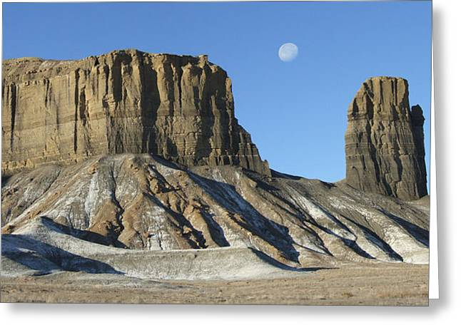 Stones Digital Greeting Cards - Utah Outback 41 Panoramic Greeting Card by Mike McGlothlen