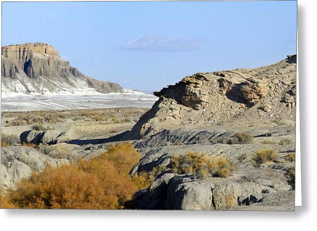 Surreal Landscape Greeting Cards - Utah Outback 42 Panoramic Greeting Card by Mike McGlothlen
