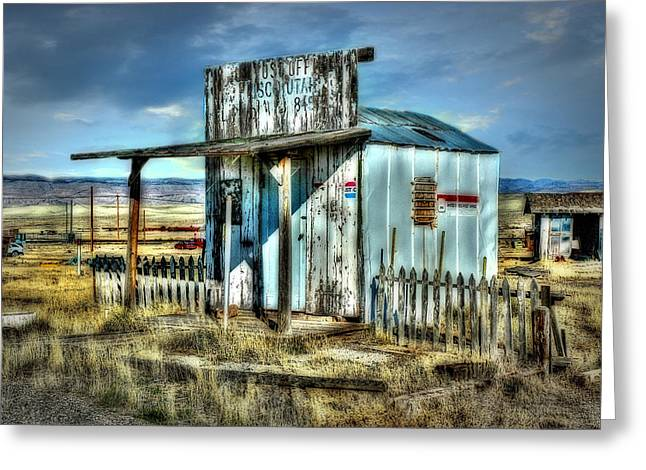 Old Fence Posts Digital Greeting Cards - Utah Post Office Greeting Card by Mary Timman
