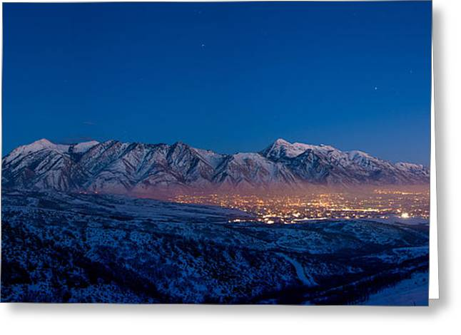 Utah Valley Greeting Card by Chad Dutson
