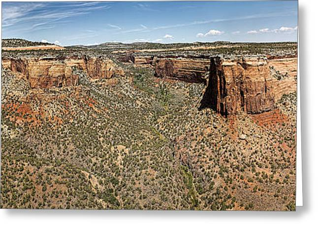 Praying Hands Greeting Cards - Ute Canyon Panorama Greeting Card by Jon Burch Photography