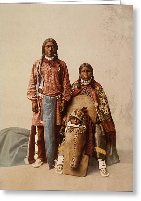 The First Family Greeting Cards - Ute Jose Romero And Family Greeting Card by William Henry Jackson