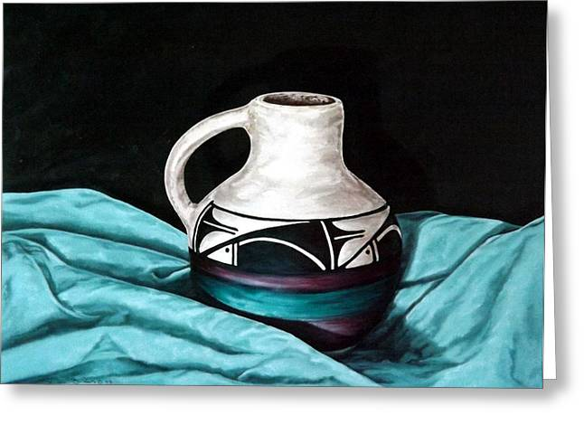 Becker Greeting Cards - Ute Mnt Pottery Greeting Card by Linda Becker