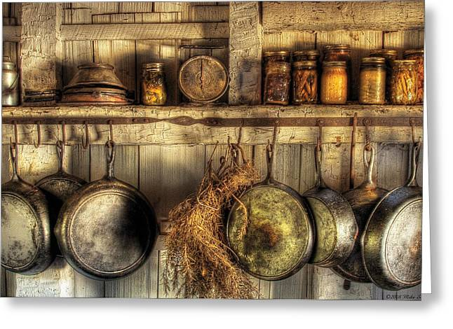 Mike Savad Greeting Cards - Utensils - Old country kitchen Greeting Card by Mike Savad