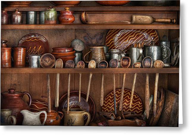 Fashion Setting Greeting Cards - Utensils - What I found in a cabinet Greeting Card by Mike Savad