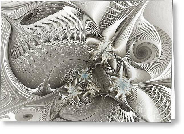 Utopia Greeting Cards - Utopia-Fractal Art Greeting Card by Karin Kuhlmann
