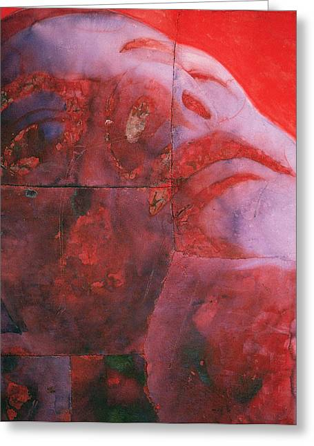 Reverie Paintings Greeting Cards - UV Head Greeting Card by Graham Dean