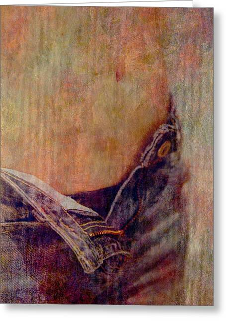 Navel Greeting Cards - V Jeans Greeting Card by Loriental Photography
