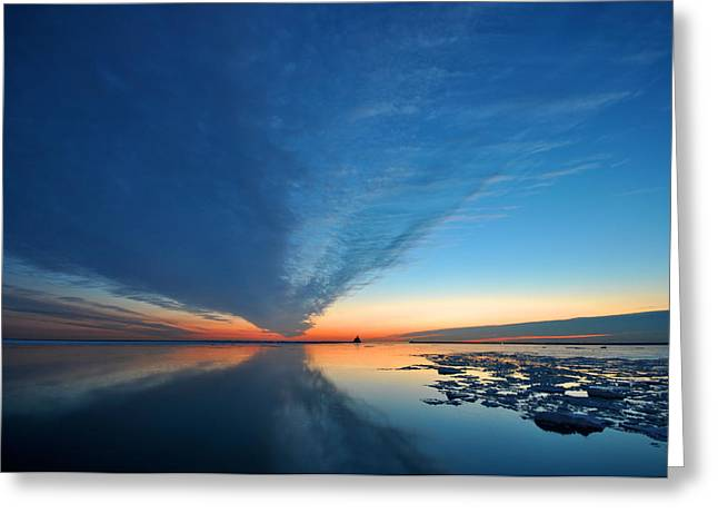 Sunrise Greeting Cards - V Greeting Card by Josh Eral