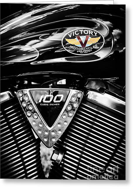 V Twin Greeting Cards - V Greeting Card by Tim Gainey