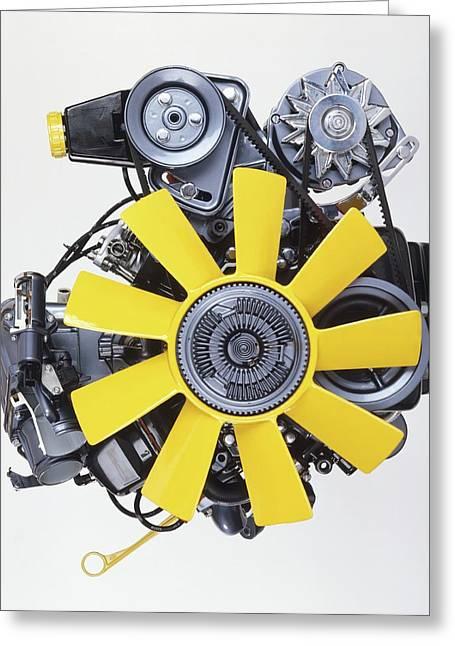 V6 12 Valve Engine Greeting Card by Dorling Kindersley/uig