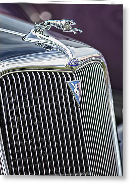Purple V8 Greeting Cards - V8 Fast Greeting Card by Betty Depee