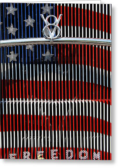 Independance Day Greeting Cards - V8 Freedom Greeting Card by Jani Freimann