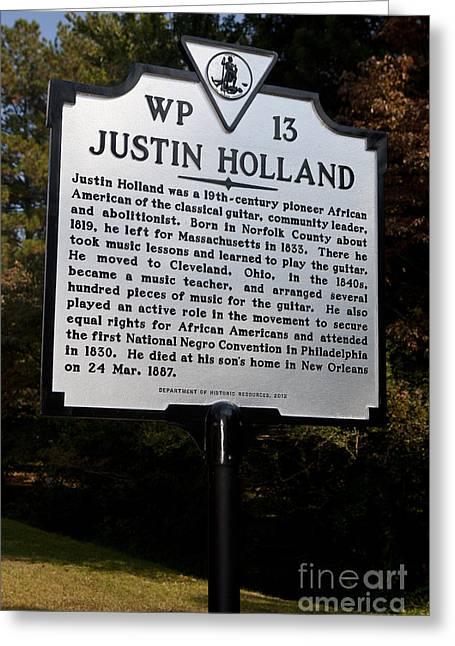 Antislavery Photographs Greeting Cards - VA-WP13 Justin Holland Greeting Card by Jason O Watson