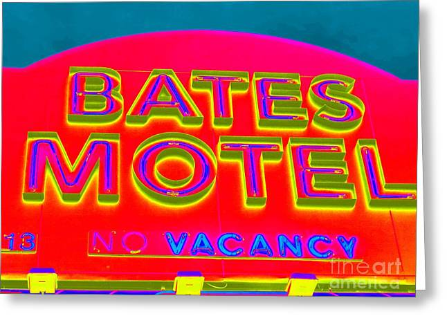 Bates Motel Greeting Cards - Vacancy Greeting Card by Ed Weidman