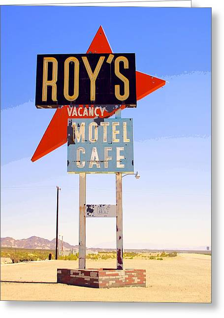 Las Vegas Art Greeting Cards - VACANCY Route 66 Greeting Card by William Dey