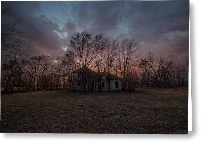 Abandoned Houses Greeting Cards - Vacant Greeting Card by Aaron J Groen