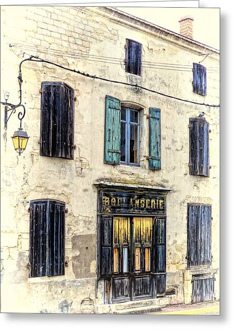 Store Fronts Greeting Cards - Vacant Greeting Card by Claude LeTien
