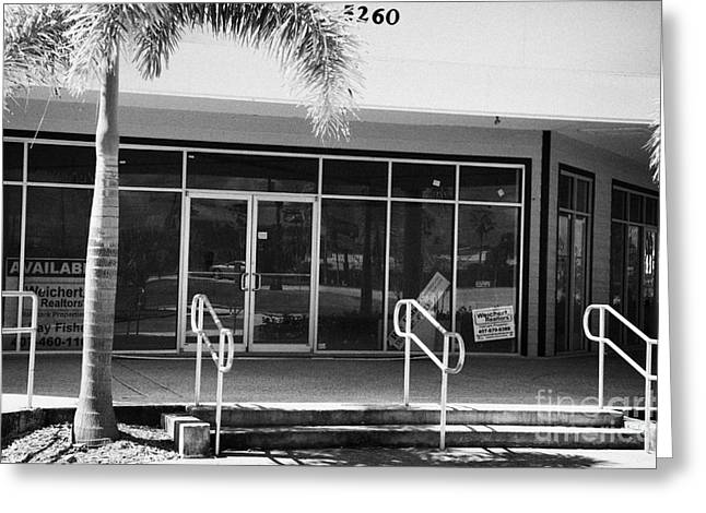 Downturn Greeting Cards - Vacant Empty Strip Mall In Kissimmee Florida Usa Greeting Card by Joe Fox