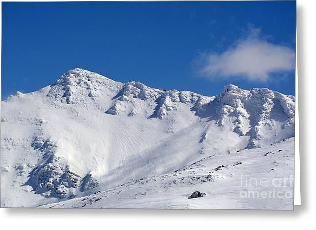 Winter Photos Greeting Cards - Vacares mountain 3129 meters Greeting Card by Guido Montanes Castillo