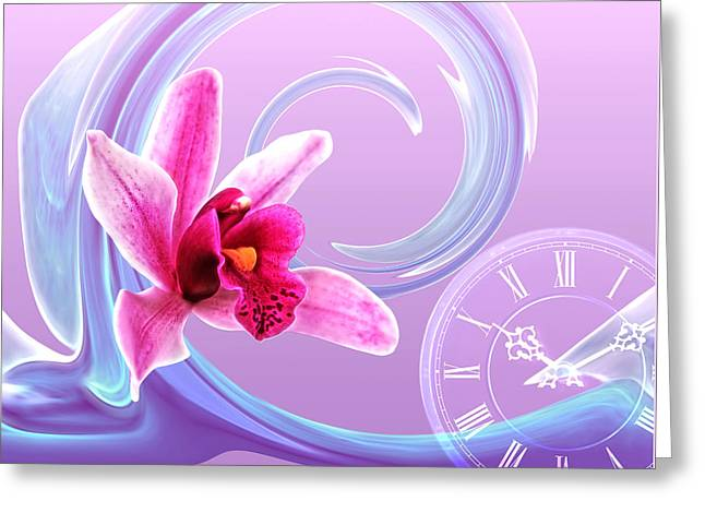 Large Clocks Greeting Cards - Vacation Time Greeting Card by Gill Billington