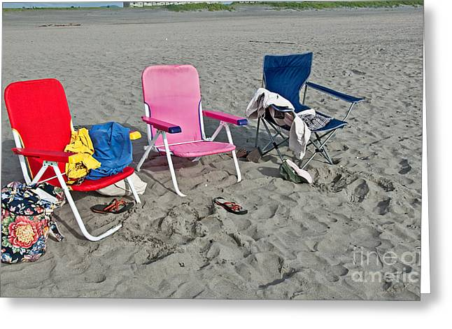 Vacation Time Greeting Card by Valerie Garner