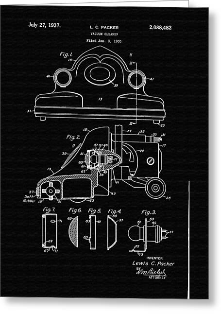 Conferring Greeting Cards - Vacuum Cleaner Patent Greeting Card by Mountain Dreams