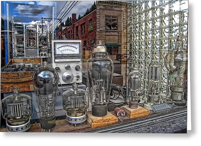 Amplifier Greeting Cards - Vacuum Tubes and Diodes - WALLACE IDAHO Greeting Card by Daniel Hagerman
