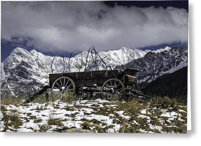 Colorado Mountains Greeting Cards - Vail Colorado Wagon Greeting Card by Michael J Bauer