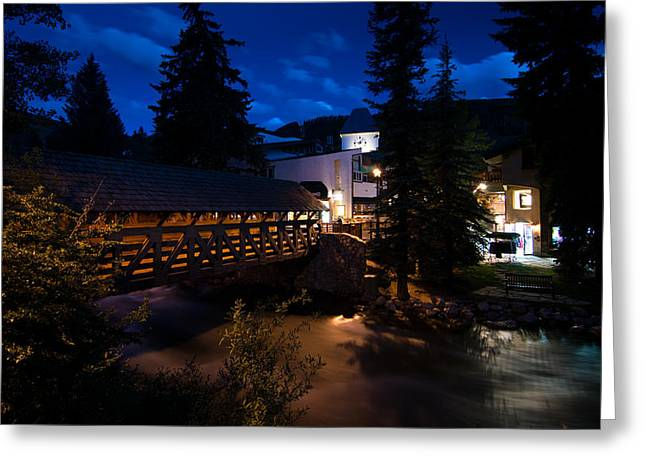 Vail Village Gore Creek Greeting Card by Michael J Bauer