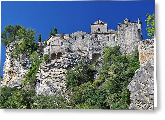 Romaine Greeting Cards - Vaison-La-Romaine medieval town Greeting Card by David ELLIOTT