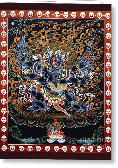 Vajrakilaya Dorje Phurba Greeting Card by Sergey Noskov
