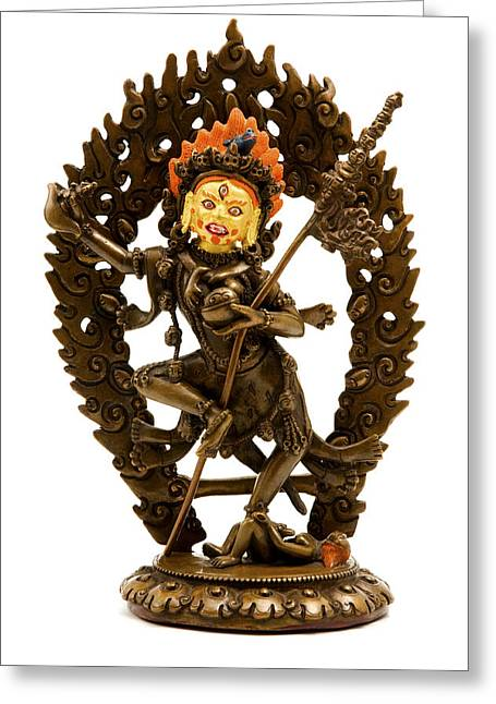 White Photographs Greeting Cards - Vajrayogini Greeting Card by Fabrizio Troiani