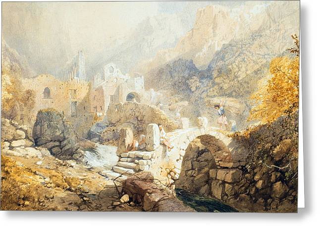 Italian Landscapes Greeting Cards - Val di Ferriera Greeting Card by James Baker Pyne