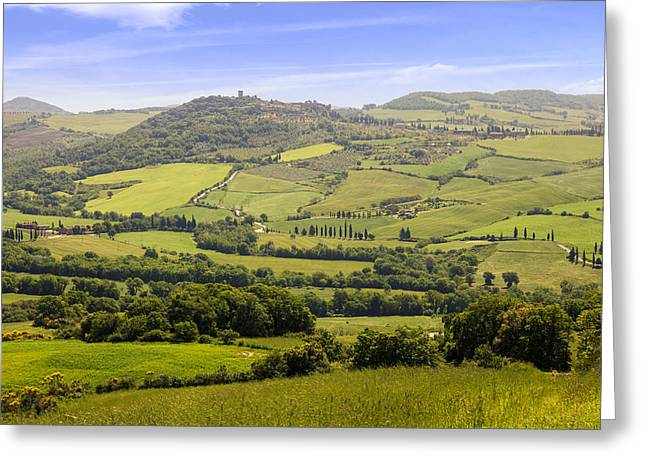 Pienza Greeting Cards - Val dOrcia - Tuscany Greeting Card by Joana Kruse