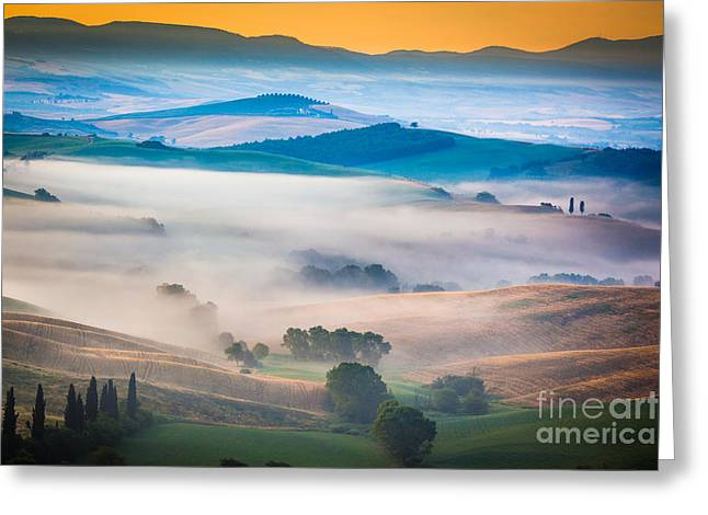 Val D'orcia Enchantment Greeting Card by Inge Johnsson