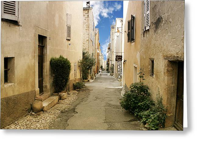 Popular Art Greeting Cards - Valbonne - History and charm  Greeting Card by Christine Till