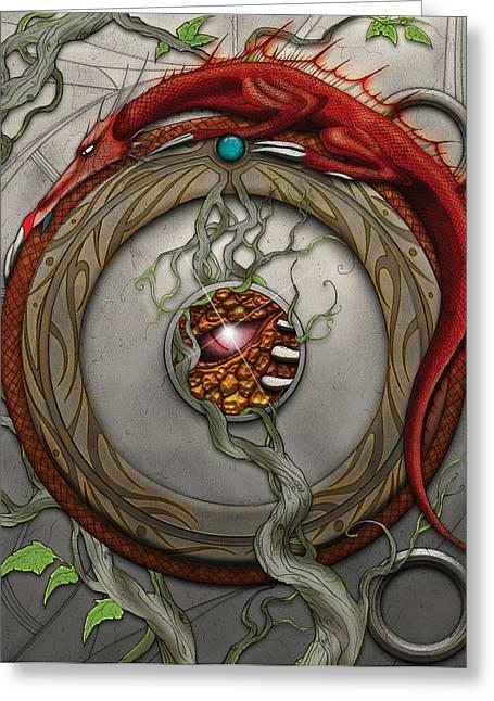 Dungeons Greeting Cards - Valencyas Horde Greeting Card by James Kramer