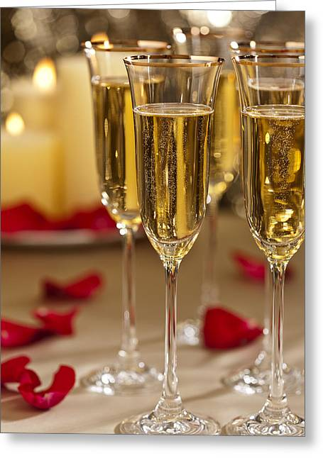 Wedding Reception Greeting Cards - Valentine celebration Greeting Card by Ulrich Schade