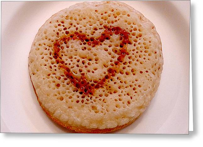 Matron Greeting Cards - Valentine Crumpet Greeting Card by Richard Reeve
