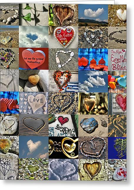 Valentine - Hearts And Memories   Greeting Card by Daliana Pacuraru