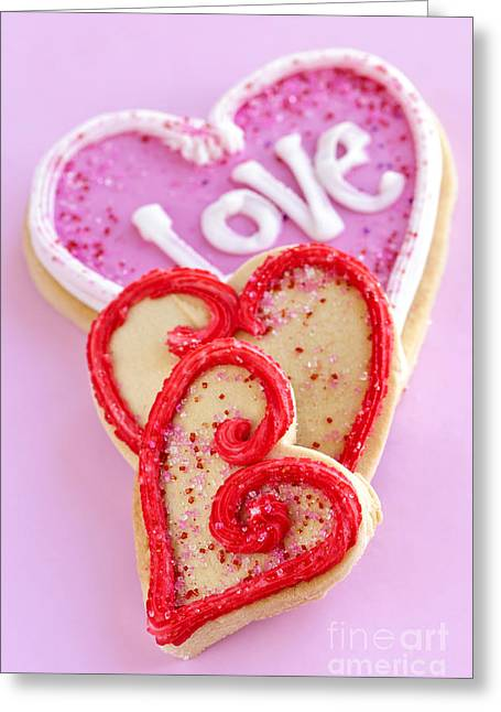 Cookies Greeting Cards - Valentine hearts Greeting Card by Elena Elisseeva