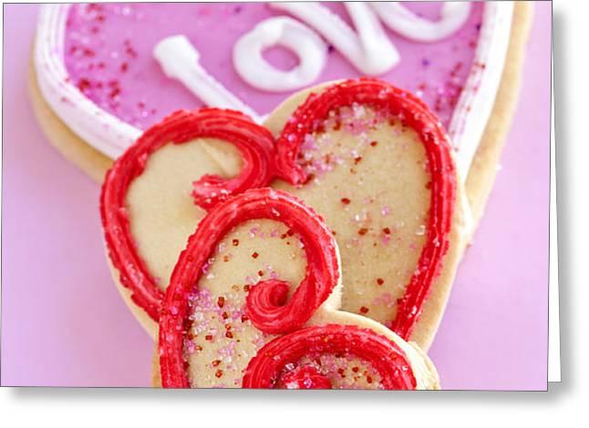 Valentine hearts Greeting Card by Elena Elisseeva