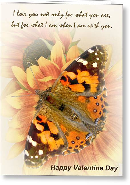 Painted Lady Greeting Cards - Valentine IV Greeting Card by David and Carol Kelly