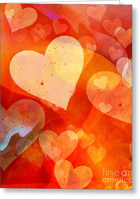 Graphic Mixed Media Greeting Cards - Valentine Greeting Card by Lutz Baar