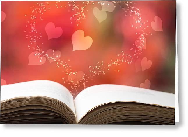 Tome Greeting Cards - Valentine Story Book Greeting Card by Amanda And Christopher Elwell