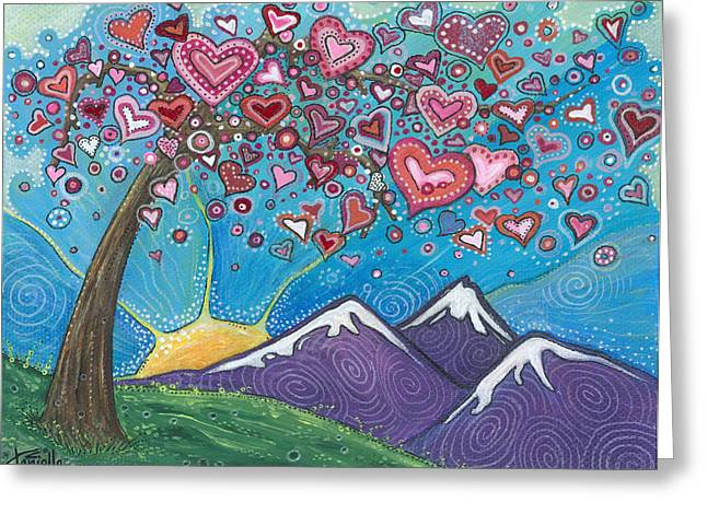 Heartfelt Greeting Cards - Valentine Wishes Greeting Card by Tanielle Childers