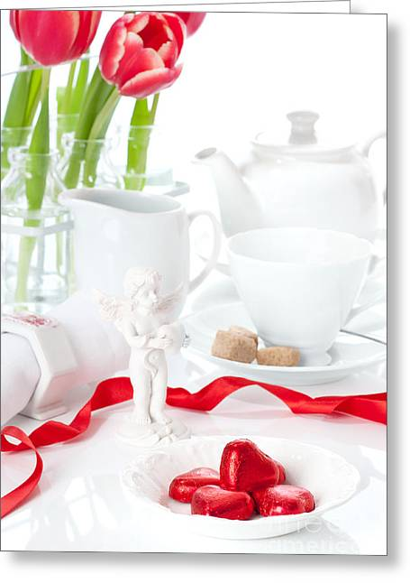 Valentine Greeting Cards - Valentines Day Chocolates Greeting Card by Amanda And Christopher Elwell